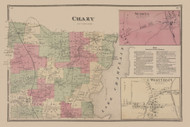 Chazy, New York 1869 - Old Town Map Reprint - Clinton Co. Atlas