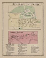 Dannemora, New York 1869 - Old Town Map Reprint - Clinton Co. Atlas