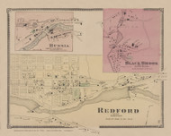 Redford, New York 1869 - Old Town Map Reprint - Clinton Co. Atlas