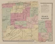 Black Brook, New York 1869 - Old Town Map Reprint - Clinton Co. Atlas