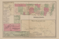 Beekmantown, New York 1869 - Old Town Map Reprint - Clinton Co. Atlas