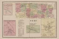 Peru, New York 1869 - Old Town Map Reprint - Clinton Co. Atlas
