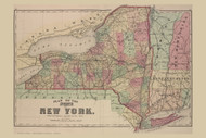 State of New York, New York 1874 - Old Town Map Reprint - Wayne Co. Atlas