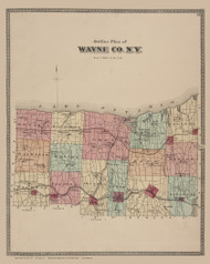 Wayne County, New York 1874 - Old Town Map Reprint - Wayne Co. Atlas