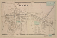 Newark Village, New York 1874 - Old Town Map Reprint - Wayne Co. Atlas