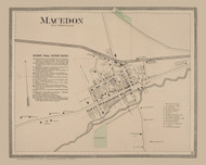 Macedon Village, New York 1874 - Old Town Map Reprint - Wayne Co. Atlas