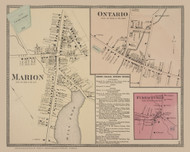 Marion and Ontario and Furnaceville Villages, New York 1874 - Old Town Map Reprint - Wayne Co. Atlas