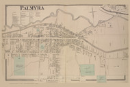 Palmyra Village, New York 1874 - Old Town Map Reprint - Wayne Co. Atlas