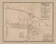 Sodus Village, New York 1874 - Old Town Map Reprint - Wayne Co. Atlas