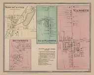Walworth, West Walworth, Sodus Center and South Sodus Villages, New York 1874 - Old Town Map Reprint - Wayne Co. Atlas