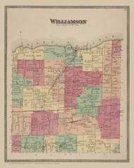 Williamson, New York 1874 - Old Town Map Reprint - Wayne Co. Atlas