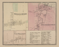 Williamson, East Williamson and Pulteneyville Villages, New York 1874 - Old Town Map Reprint - Wayne Co. Atlas