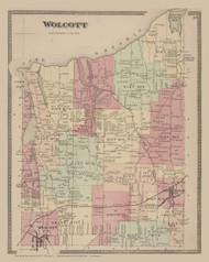 Wolcott, New York 1874 - Old Town Map Reprint - Wayne Co. Atlas