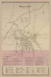 Wolcott Village, New York 1874 - Old Town Map Reprint - Wayne Co. Atlas