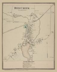 Red Creek, New York 1874 - Old Town Map Reprint - Wayne Co. Atlas