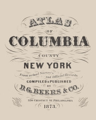 Title Page, New York 1873 - Old Town Map Reprint - Columbia Co. Atlas