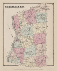 Columbia County, New York 1873 - Old Town Map Reprint - Columbia Co. Atlas