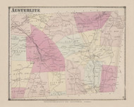 Austerlitz, New York 1873 - Old Town Map Reprint - Columbia Co. Atlas