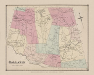 Gallatin, New York 1873 - Old Town Map Reprint - Columbia Co. Atlas
