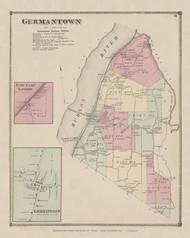 Germantown, New York 1873 - Old Town Map Reprint - Columbia Co. Atlas
