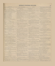 Hudson Business Notices, New York 1873 - Old Town Map Reprint - Columbia Co. Atlas