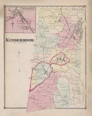 Kinderhook, New York 1873 - Old Town Map Reprint - Columbia Co. Atlas