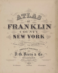Title Page, New York 1876 - Old Town Map Reprint - Franklin Co. Atlas