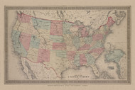 United States of America, New York 1876 - Old Town Map Reprint - Franklin Co. Atlas
