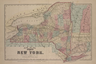 State of New York, New York 1876 - Old Town Map Reprint - Franklin Co. Atlas