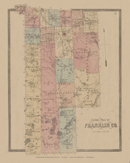 Franklin County, New York 1876 - Old Town Map Reprint - Franklin Co. Atlas