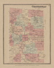 Chateaugay, New York 1876 - Old Town Map Reprint - Franklin Co. Atlas