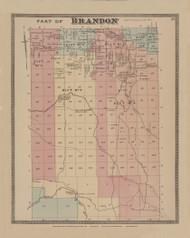Brandon, New York 1876 - Old Town Map Reprint - Franklin Co. Atlas
