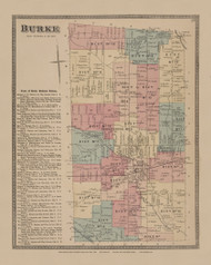 Burke, New York 1876 - Old Town Map Reprint - Franklin Co. Atlas