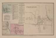 Chateaugay, Burke, Trout River, and East Constable Villages, New York 1876 - Old Town Map Reprint - Franklin Co. Atlas