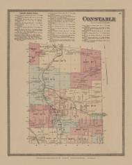 Constable, New York 1876 - Old Town Map Reprint - Franklin Co. Atlas