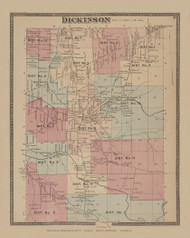 Dickinson, New York 1876 - Old Town Map Reprint - Franklin Co. Atlas