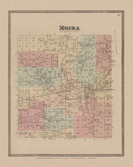 Moira, New York 1876 - Old Town Map Reprint - Franklin Co. Atlas