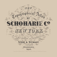 Title Page, New York 1866 - Old Town Map Reprint - Schoharie Co. Atlas