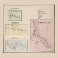 Argusville, Carlisle, Middleburgh, and Hunterland Villages, New York 1866 - Old Town Map Reprint - Schoharie Co. Atlas