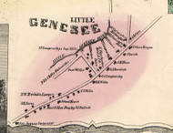 Little Genesee Village, New York 1856 Old Town Map Custom Print - Allegany Co.