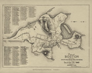 Boston 1640 - Boston Early Maps