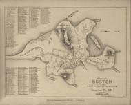 Boston 1641 - Boston Early Maps