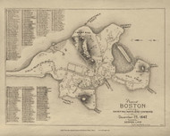 Boston 1642 - Boston Early Maps