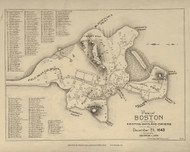 Boston 1643 - Boston Early Maps