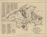 Boston 1645 - Boston Early Maps