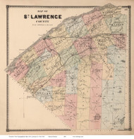 St Lawrence County, New York 1865 - Old Map Reprint - St. Lawrence Co. Atlas