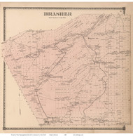 Brasher, New York 1865 - Old Town Map Reprint - St. Lawrence Co. Atlas
