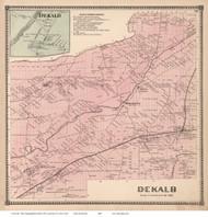 Dekalb & Dekalb Village, New York 1865 - Old Town Map Reprint - St. Lawrence Co. Atlas