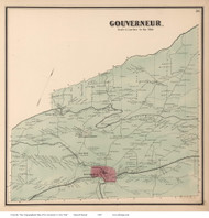 Governeur, New York 1865 - Old Town Map Reprint - St. Lawrence Co. Atlas
