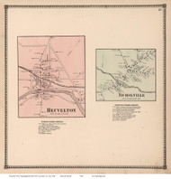 Heuvelton and Nicholville Villages, New York 1865 - Old Town Map Reprint - St. Lawrence Co. Atlas